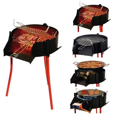 Rustic BBQ Set with grill can be used with charcoal, firewood or paella burner - sizes 40cm, 70cm