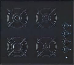 Signature Gas Hob Black Glass with 4 burners