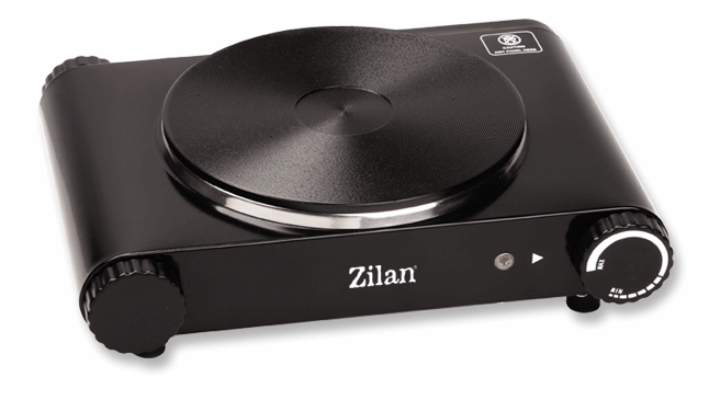 Zilan Single Electric Hotplate Black