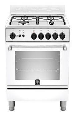 La Germania Cooker 60cm with 4 Gas Burners white