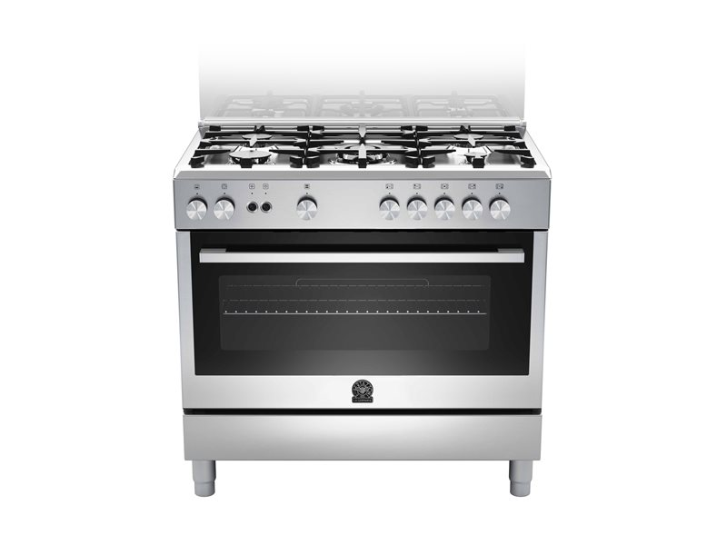 La Germania Cooker 90cm with 5 Gas Burners S/Steel